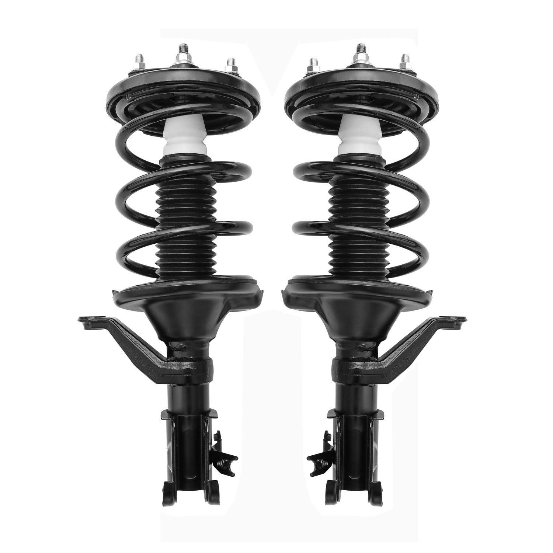 MILLION PARTS 2 Pcs Rear Complete Strut Shock Absorber Assembly 171340R 171340L fit for Honda 2001 2002 2003 2004 2005 Civic