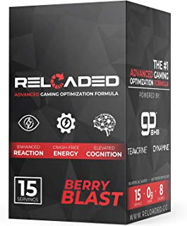 Reloaded Advanced Gaming Supplement - Elite Gamer Fuel that Generates Crash Free Energy, Enhances Reaction