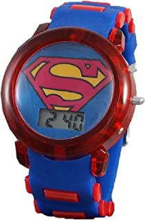 Superman Boy's Light up Blue Digital Watch