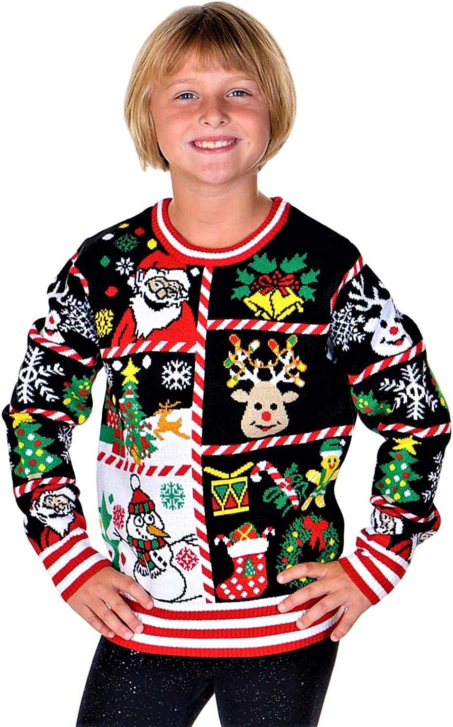 SoCal Max 41% OFF Look Girls Ugly Christmas Pul Sweater Clause Sale Special Price Santa Snowman