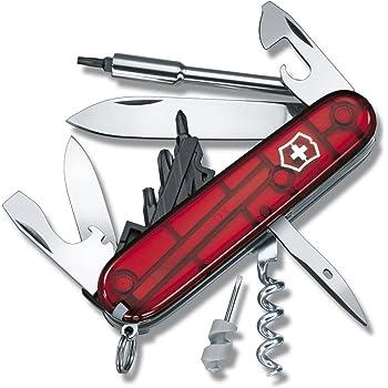VICTORINOX(ビクトリノックス) ナイフ 精密ドライバーセット PC 分解 DIY 工具セット サイバーツールS 1.7605.T 【国内正規品 保証付】