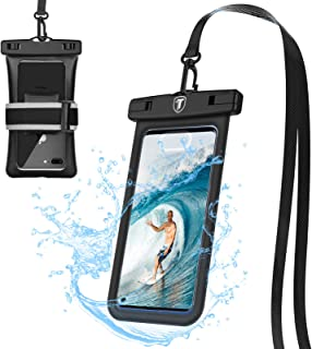 Tiflook Floating Waterproof Phone Case,2019 Underwater Protective Cellphone Dry Bag Pouch Fit for Moto Z4 Z3 Play/G7 G6 G5 E5 Play/G6 G5S Plus/G6 Forge/E5Plus/X4/One Vision,up to 6.5