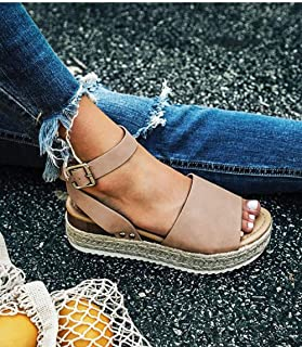 Women'S Sandals,Beige Women Sandals Plus Size Wedges Shoes For Women High Heels Sandals Summer Shoes Flip Flop Chaussures Platform Sandals
