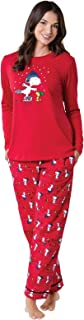 Image of Cute Peanuts Woodstock and Snoopy Christmas Pajamas for Women