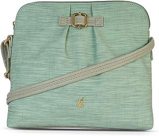 Baggit Autumn/Winter 2020 Faux Leather Women's Bowling Handbag (Green) (Xhinin)