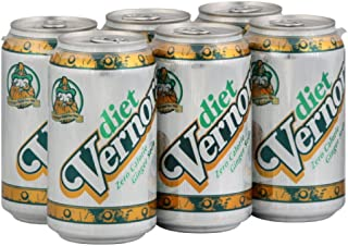 Vernor's Ginger Ale Diet 6 pack, 12-Ounce (Pack of 4)