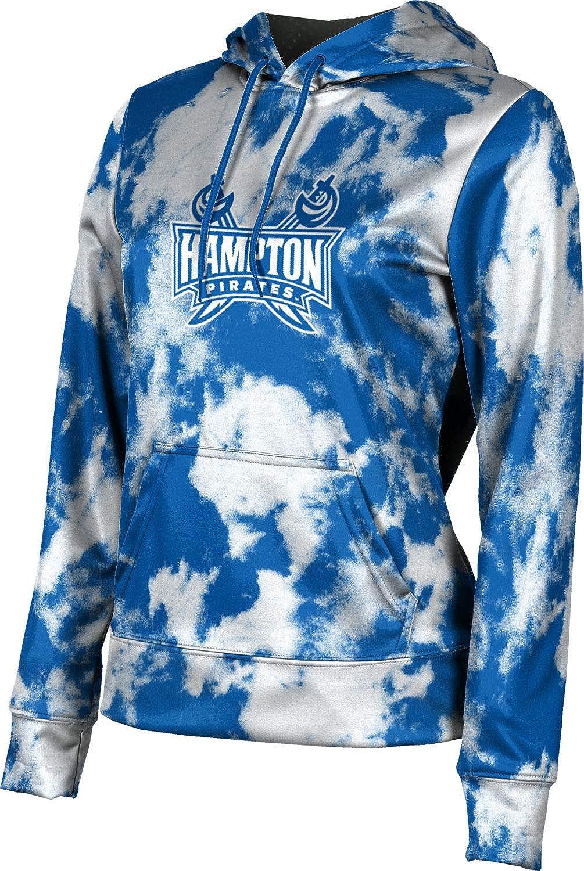 Hampton University Girls' Pullover Hoodie, School Spirit Sweatshirt (Grunge)