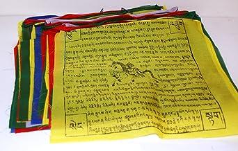 Tibetan Extra Large Wind Horse Prayer Flags 27 Feet Long