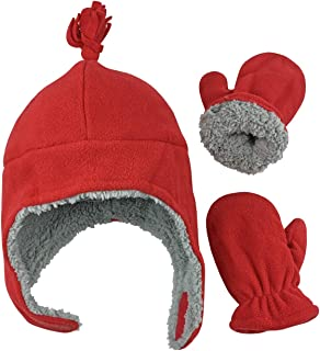 Little Boys and Baby Sherpa Lined Warm Fleece Pilot Hat...