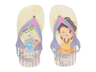Havaianas Kids Baby Disney Princess Flip-Flop (Toddler) (Pollen Yellow/Lavender) Girls Shoes