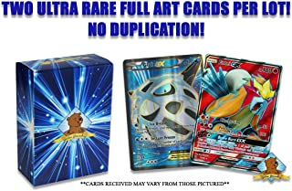 No Duplication Pokemon Card Lot of 2 Ultra Rare Full Art Cards Includes Groundhog Deck Box! Cards Will be Over 150 HP