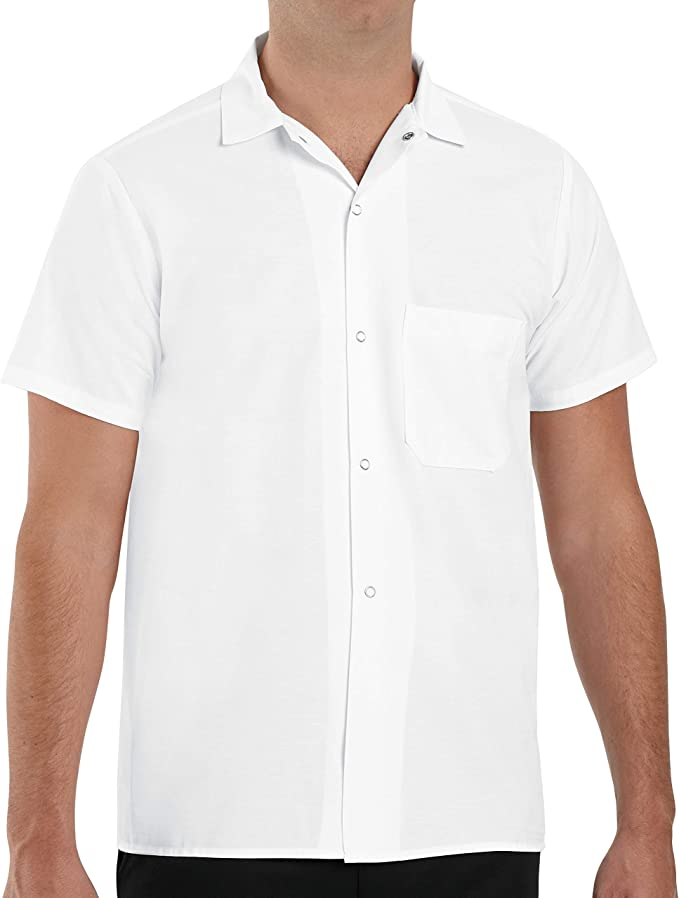 Clothing Chef Designs Mens Black Trim Cook Shirt Clothing, Shoes ...