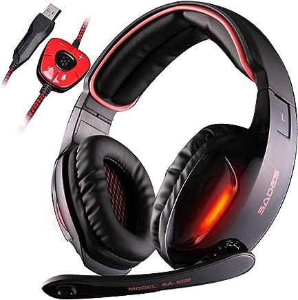SADES SA902 - Cuffie da Pro Gaming USB con Suono Surround 7.1, Microfono, Deep Bass, Controllo del Volume (Nera) - Trova i prezzi più bassi