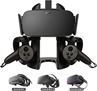 DELAM VR Stand, Virtual Reality Headset and Controllers Display Holder, VR Headset Stand Compatible with Oculus Rift/Oculu...