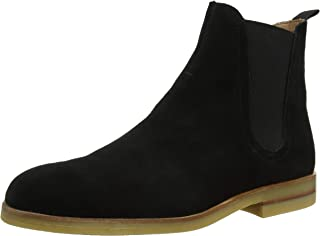 H by Hudson Mens Adlington Chelsea Suede Smart Work Business Ankle Boots