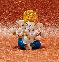 "Sawcart 2.5"" Lord Ganesha/Ganpati Small Blue Statue Decorative Puja Idol Figurine Sculpture Hindu God of Success, Prosperi..."