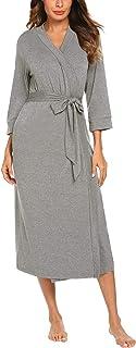 Sponsored Ad - MAXMODA Women Kimono Robes Soft Long Robe Knit Bathrobe Sleepwear V-Neck Ladies Loungewear S-3XL