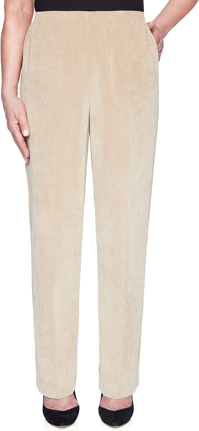 Alfred Dunner Women's Plus-Size Classic Signature Fit Corduroy Pant with All-Around Elastic Waistband