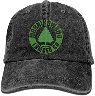 Morningwood Lumber Plain Adjustable Cowboy Cap Denim Hat for Women and Men