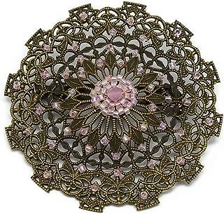 Spilla cuore Giappone perle rosa pastello 5,5cm regali personalizzati regalo di Natale amici compleanno cerimonia di nozze...