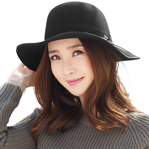 Siggi Ladies 100% Wool Felt Fedora Hat Wide Brim Derby Church Party Winter  Hats for cd08a93f7d5