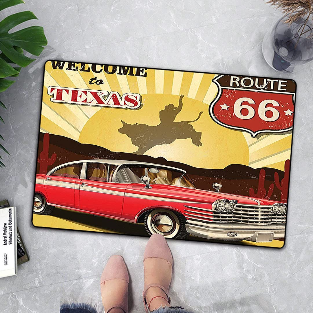 Vintage Decor Non-Slip Floor Mats Texas Pos to 70% OFF Branded goods Outlet Welcome Signboard