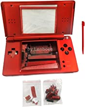 lenboes Replacement Full Housing Shell Case Kit Repair Parts for Nintendo DS Lite NDSL - Red