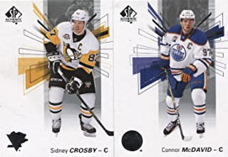 2016 2017 Upper Deck SP Authentic NHL Hockey Complete Mint Basic 100 Card Set with Connor McDavid, Alex Ovechkin, Sidney Crosby plus plus