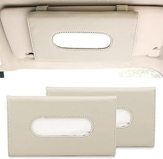 Sponsored Ad - Car Tissue Holder, Sun Visor Napkin Holder, Seat Back Tissue Box, Paper Storage Cases for Universal Auto Ve...