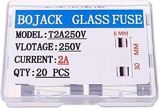 Sandis 5pc 250V 10A Portafusibles En linea de Tubo de vidrio Tipo de Tapa de tornillo 20mm x 5mm