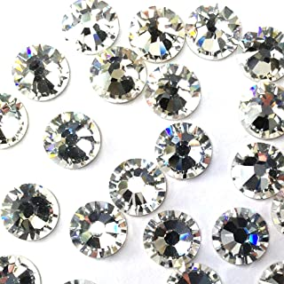 CRYSTAL (001) clear Swarovski 2058 Xilion Rose 6ss 2mm Tiny flatback No-Hotfix rhinestones ss6 nail art 144 pcs (1 gross)