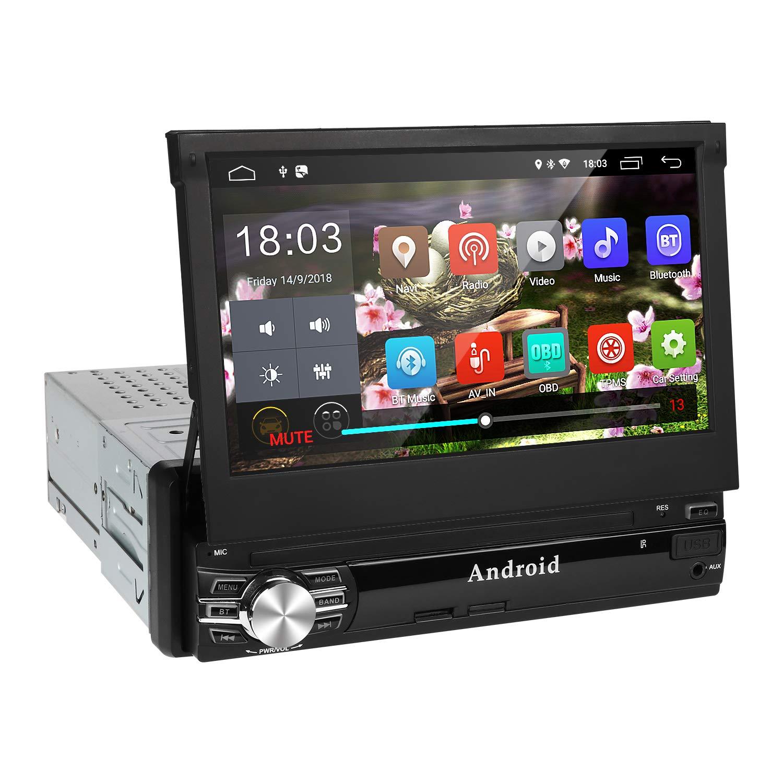 Android 9.0 Radio Coche 1 DIN de Navegación GPS,Autoradio con ...