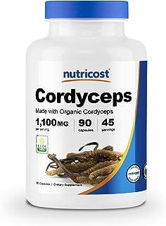 Nutricost Organic Cordyceps Mushroom Capsules 1100mg, 45 Serv - Certified CCOF Organic, Vegan, Gluten Free, 550mg Per Caps...