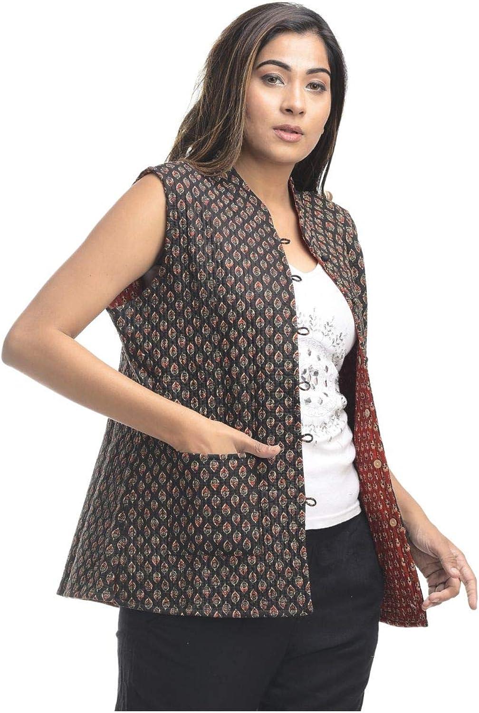 Apratim Cotton Women,Girl Party Wear/Wedding Quilted Reversible Jacket