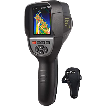 """220 x 160 IR Resolution HTI Thermal Imager, Handheld 35200 Pixels Thermal Imaging Camera with 3.2"""" Color Display Screen(Battery Included)"""