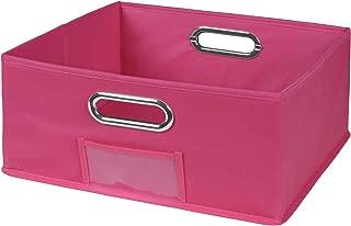 Niche Cubo Half-Size Foldable Fabric Storage Bin, Pink
