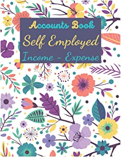 Accounts book self employed: Book Keeping Account Book For Small Business or Sole Trader   Record income and expense log b...