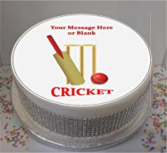 Personalised Cricket Bat, Ball & Stumps 19cm / 7.5