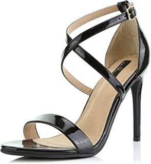DailyShoes Women's High Heel Sandal Open Toe Ankle Buckle Cross Strap Platform Pump Evening Dress Casual Party Shoes