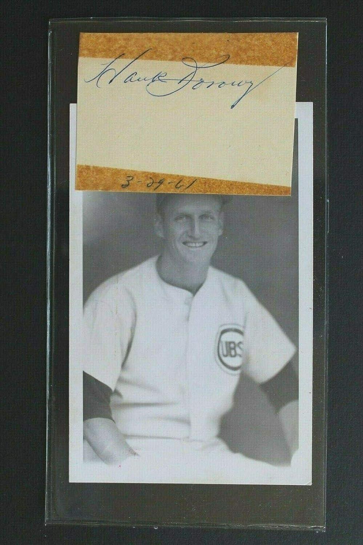 Hank Borowy d.2004 Cubs Yankees Signed Max 87% OFF Phillies Cut Cheap sale Autograph