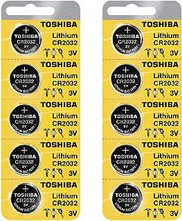 Toshiba CR2032 3 Volt Lithium Coin Battery (10 pcs)