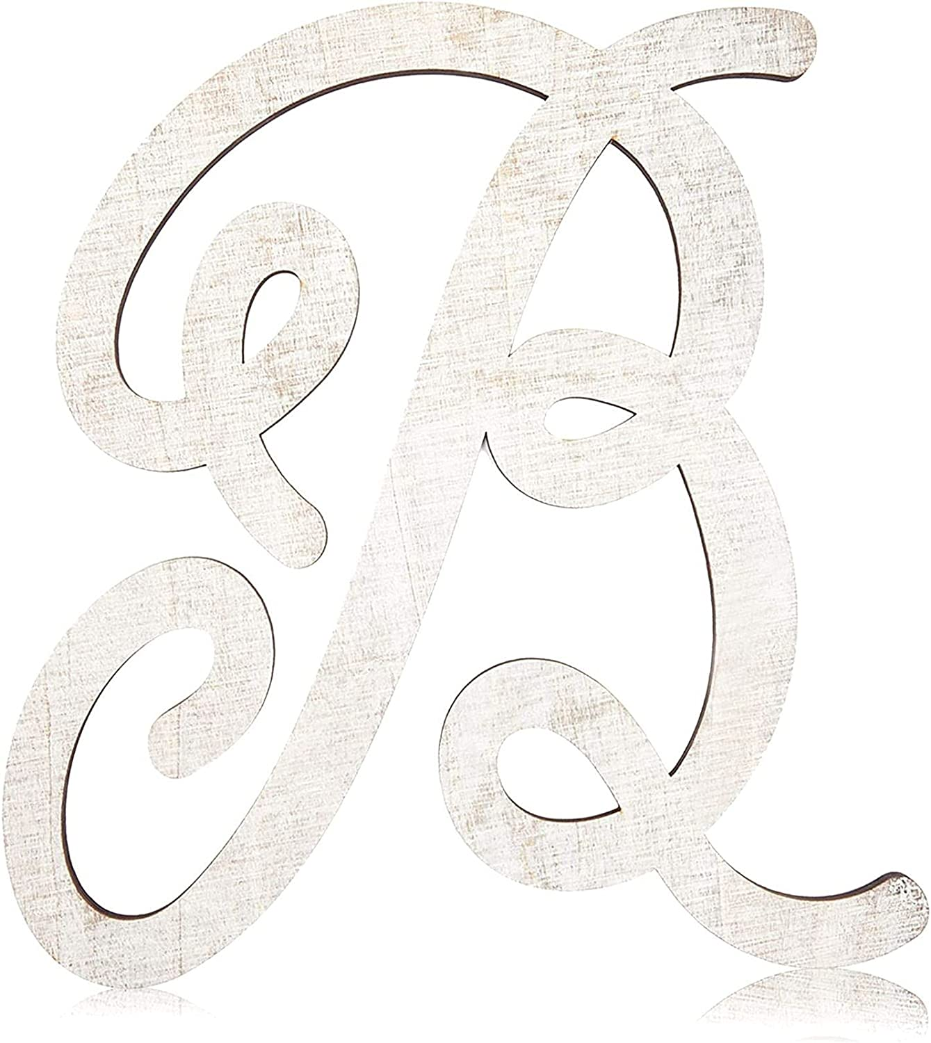 Wooden Monogram Alphabet Letters, Letter B for Crafts, Rustic Wall Decor (13 in)