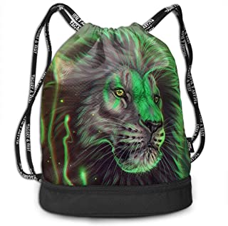 Mochila empaquetada Impresa 3D, Mochila Verde Fresca del Lazo del Arte del Rey león/Bolso de Viaje