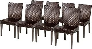 TK Classics BELLE-TKC090b-ADC-4x Belle Dining Chaise Lounge, Espresso