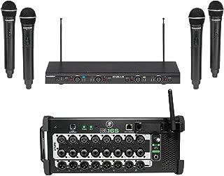 Mackie DL16S 16-Channel Wireless Digital Wi-Fi Mixer w/DSP+Samson Wireless Mics