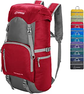 ZOMAKE 40L Lightweight Packable Backpack for Travel - Large Foldable Hiking Daypack Water Resistant