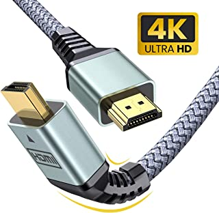 4K HDMI Cable 6.0 ft AINOPE (4K 30Hz, HDMI 2.0, 18Gbps) - Armor Nylon Braided HDMI Cord - Audio Return(ARC) Compatible UHD TV,Box PS4/3 4K Fire Netflix LG Samsung ect