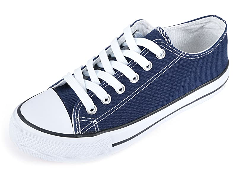 SUNJIN ARCO Unisex Fashion Lace up Sneaker Low Top Canvas Shoes