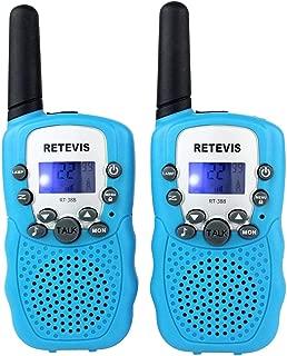 Retevis RT-388 Kids Walkie Talkies 22CH Toys Walkie Talkies for Kids 3-12 boys girls (Blue,1Pack)