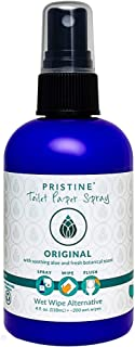 Pristine Toilet Paper Spray: As Seen on Shark Tank, The Planet Friendly, More Natural Alternative to Flushable Wet Wipes -...